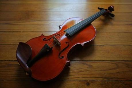 "One of Clancy's finished violins, which she calls Big Red. A New York-based newspaper praised the ""lush, well-heeled sound'' of Clancy's violins."